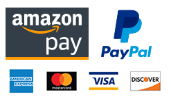 Pay with Amazon Pay, PayPal, American Express, Visa, Mastercard, or Discover.
