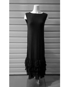 3-n-1 Slip Dress-Black-2X