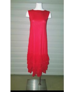 3-n-1 Slip Dress-Red-2X