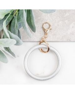 Silver Metallic Key Ring Bangle