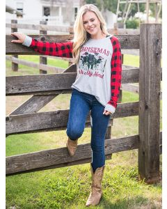 Christmas with My Herd Adult Tee-Medium