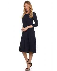 Swing Dresses-Navy-Small