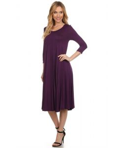 Swing Dresses-Purple-Small