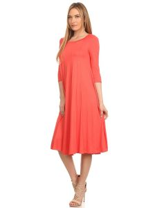 Swing Dresses-Coral-Small