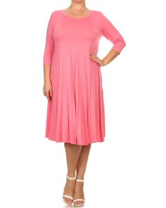 Swing Dresses-Pink-Small