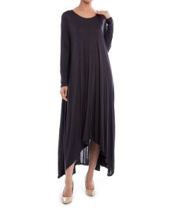 Shark-bite Maxi Dress-Medium