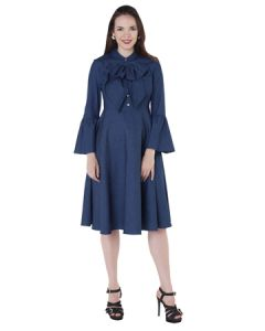 Meghan Denim Dress-Dk. Denim-Medium