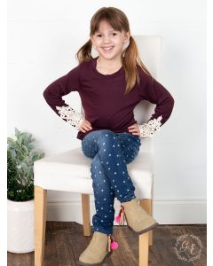 Morgan's Simple Longsleeve Tee-4-5 yrs