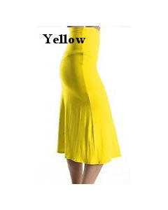 Junior Jersey Skirt-Yellow-Small