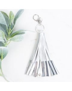 Tassel Keychain with Phone Charging Cable