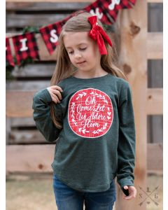 Adore Him Longsleeve Girl's Tee-8-10 yrs