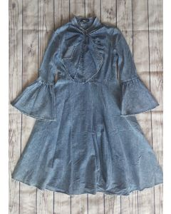 Meghan Denim Dress-Lt. Denim-Small