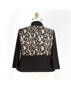 Lace Inset Shrug-3X