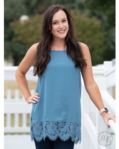 Perfectly Paired Cami-Small-Cadet Blue
