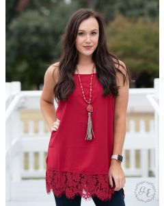 Perfectly Paired Cami-Small-Red