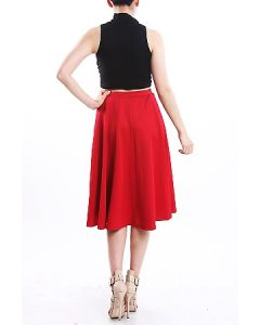 Love Is Red Midi Skirt-Medium