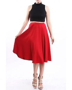 Love Is Red Midi Skirt