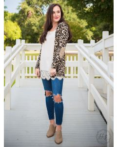 Gold Patch Leopard Adult Cardigan