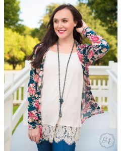 Carnation Adult Cardigan-Medium