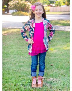 Carnation Girl's Cardigan
