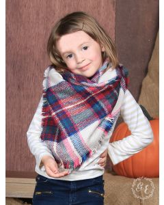 Winterberry Plaid Blanket Scarf